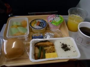 ユナイテッドの機内食