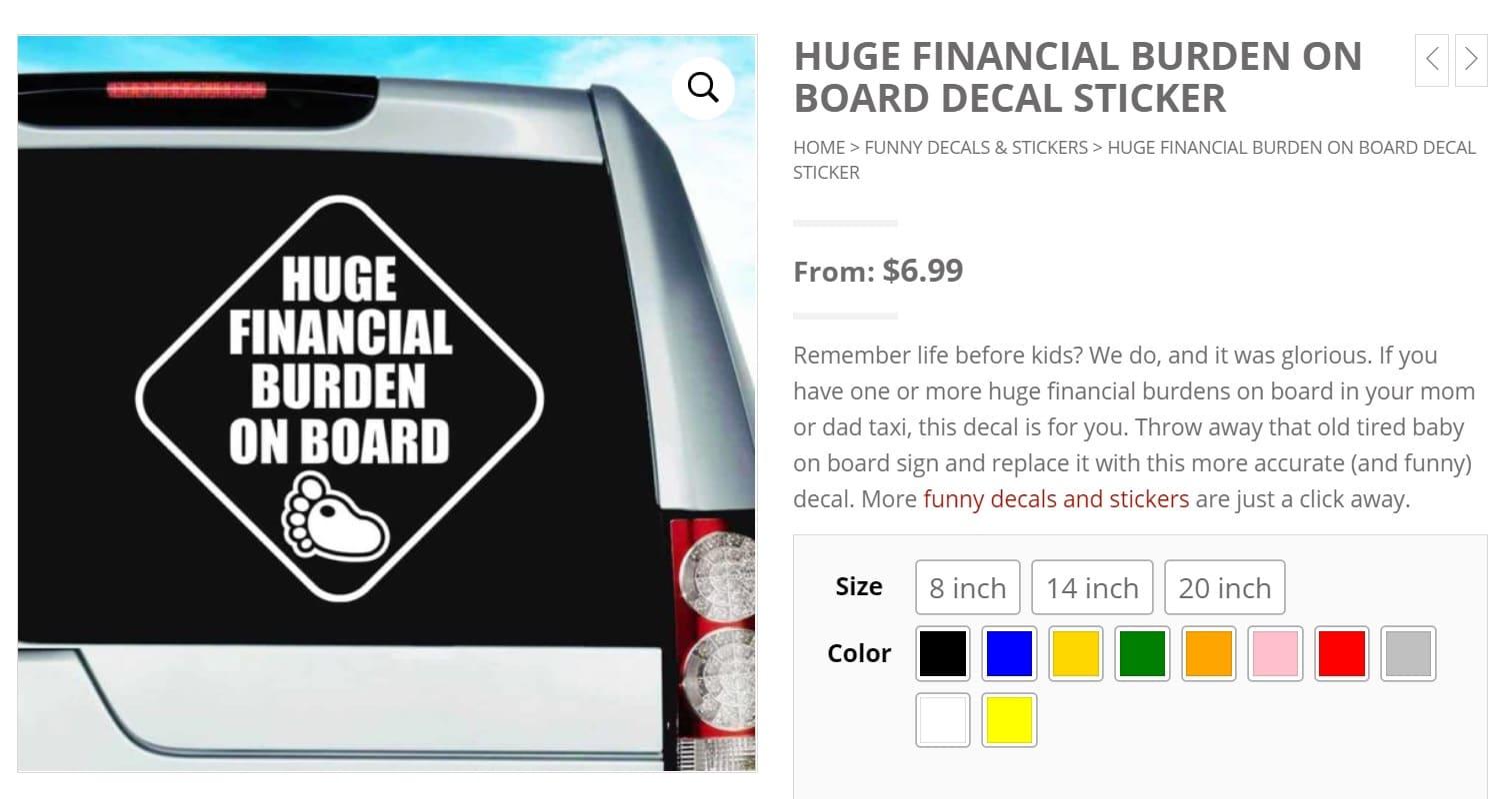 financial burden on board