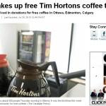 カナダで数百人にコーヒーをおごる事件が発生中